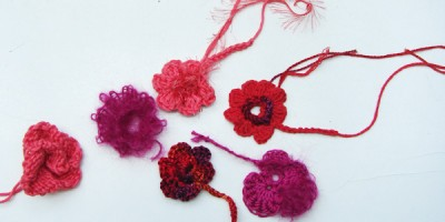 Blumen hkeln und stricken