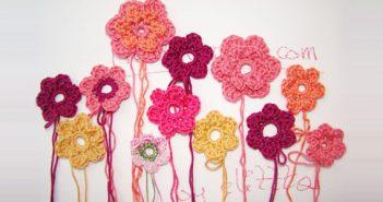 Einfache Häkelblumen, vielfache Variationen