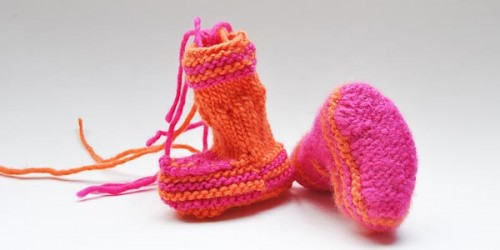 "Baby Booties ""Lily"" Sohle"