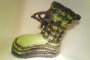 BabyBooties im Military-Style >;o)