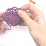 Rosette mit Bullion Stitch * Kordelstich