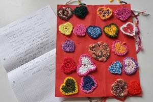 20 Herzen in Reih & Glied von Ramona