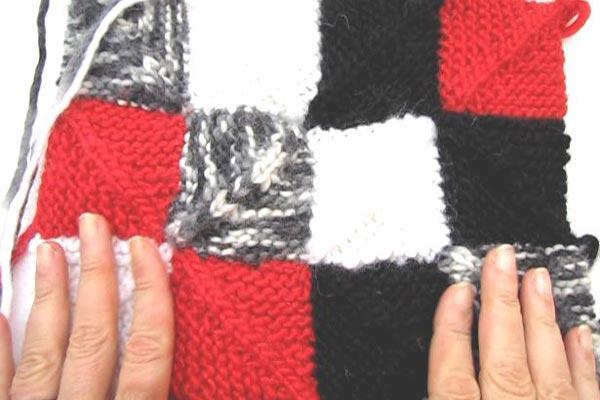 Domino Ecken * Patchwork stricken | Stricken und Häkeln mit eliZZZa