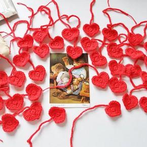 39 Herzen von Rose aus Luxemburg