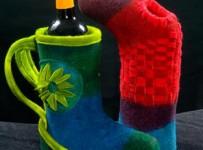 Flaschenkühler aus Filz