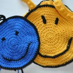 Smiley Topflappen & Tasche