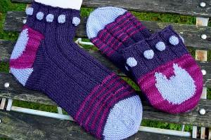 MEINE geliebten Rosebud-Socken, gefunden bei jesusundkrebs.de