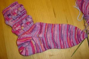 Socken mit Blasenmuster