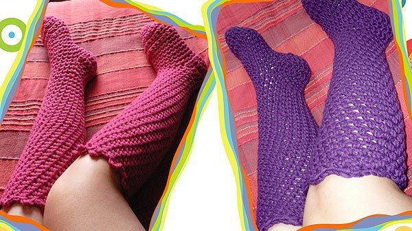Gehäkelte Socken von Rose