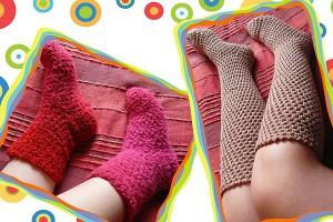 Mehr gehäkelte Socken