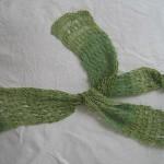 Schal mit Ajourstreifen