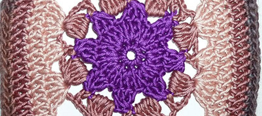 "17. Dezember * Granny Square ""Purple Star"""
