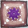 17. Dezember * Granny Square &#8220;Purple Star&#8221;