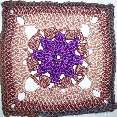 "Granny Square ""Purple Star"""