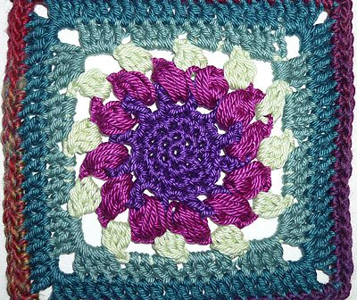 "Granny Square ""Sunflower"""