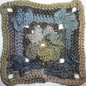 "Granny Square ""PowerFlower"" Variante"