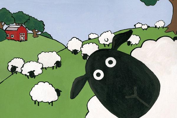 Curious Sheep by DeeDeeBird