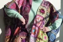 Häkeln: Granny Squares Umhang