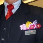 Häkeln – Häkelblumen für die Deutsche Bahn