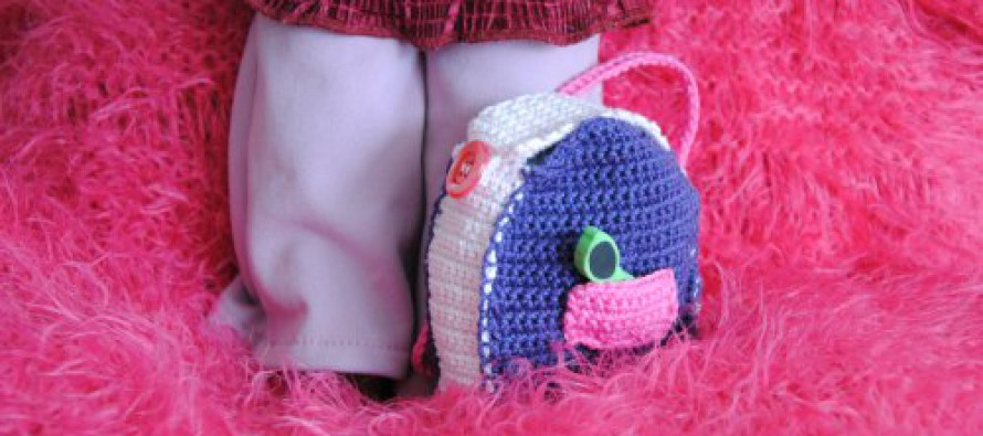 Häkeln: Rucksack für Puppe Agnes