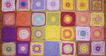 Häkeln, Granny Squares für Lilas Projekt