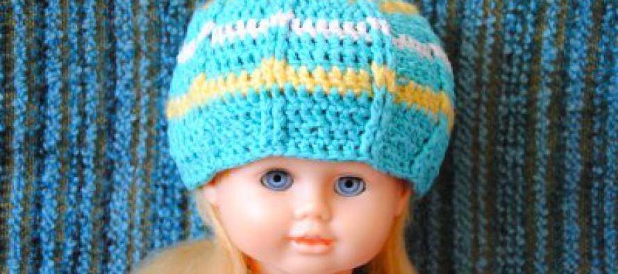 Häkeln: Mütze für Puppe Agnes