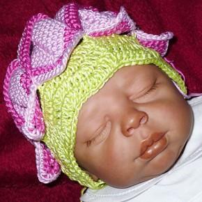 Häkeln: Babymützchen Origami