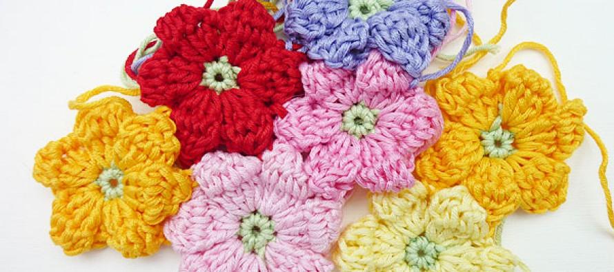 Häkeln: Blütencluster für Babydecke