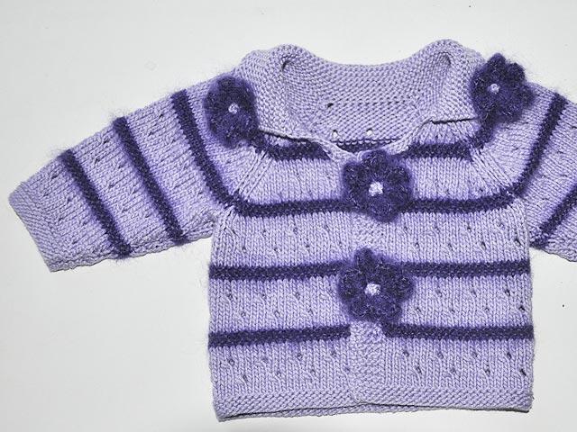 Babyjacke von oben stricken