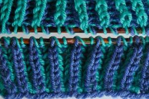 Patentmuster zweifarbig, Vorderseite und Rückseite