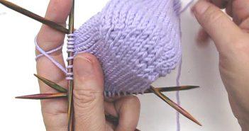 Socken stricken: Herzchenferse