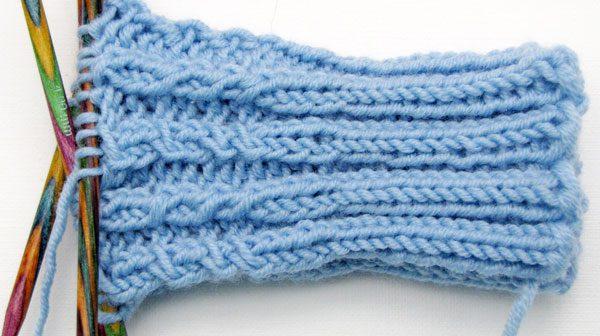 Socken stricken: Bündchenmuster