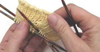Socken Stricken: Anschlag mit doppelter Maschenzahl