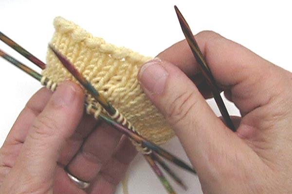 Socken Stricken Sockenkurs 2 Anschlag Mit Doppelter Maschenzahl