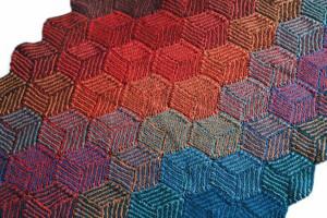 Decke aus Illusion Cubes