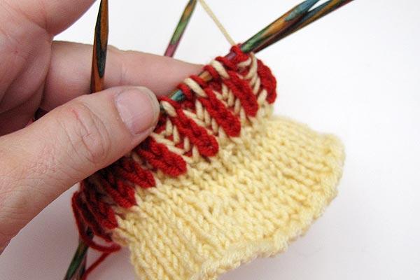 Socken Stricken Sockenkurs 5 Patentmuster Zweifarbig In Runden