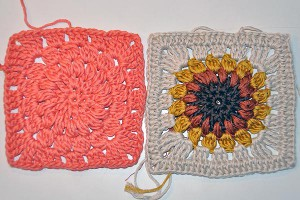 Hkeln: Granny Square &quot;Sunburst&quot;