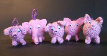 Schlüsselanhänger Glücksschweinchen