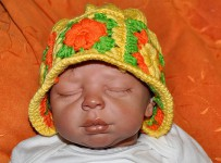 Babymütze mit Granny Squares