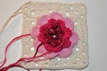 "24. Dezember * Granny Square ""Irische Rose im Schnee"""