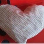 Nähen: Herzkissen mit Reißverschluß