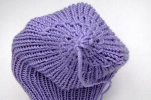 Socken stricken: Schneckenspitze