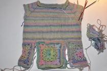 Wir stricken & häkeln einen Babypulli Raglan * Teil 1