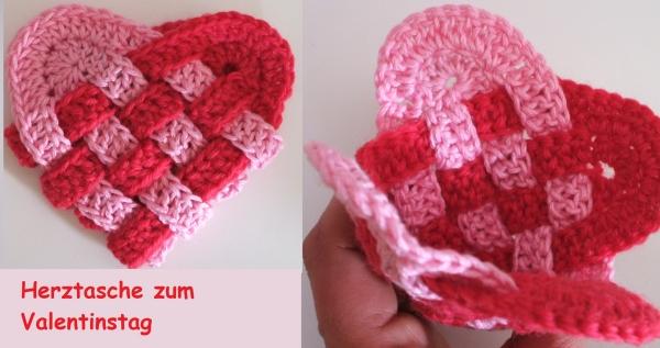 Herztasche zum Valentinstag | Stricken und Häkeln mit eliZZZa