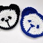 "Häkeln: Teddy Kopf für Kinderpulli ""Panda"""