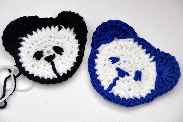Häkeln Teddy Kopf Für Kinderpulli Panda Stricken Und Häkeln Mit