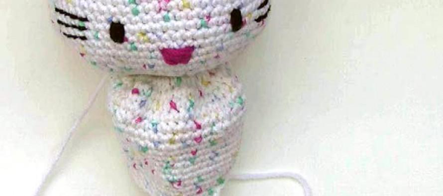 Häkeln: Hello Kitty Engel mit Herz * Teil 2 * Körper