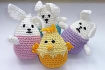 Häkeln für Ostern * Stehaufhäschen, Stehaufküken