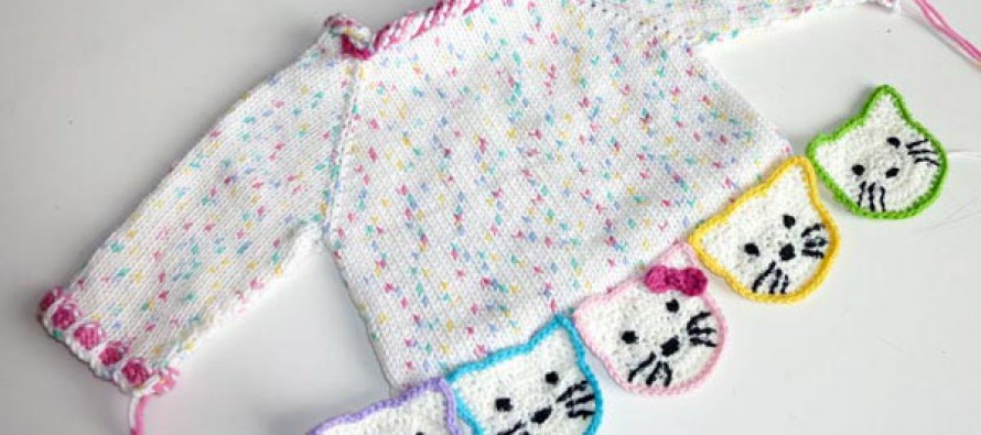 "Stricken: Kinderpulli ""Kitty & Panda"" * Teil 5 * Ausarbeiten"