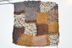 10-Stitch-Blanket in Sockenwolle